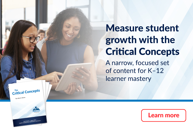 Measure student growth with the Critical Concepts