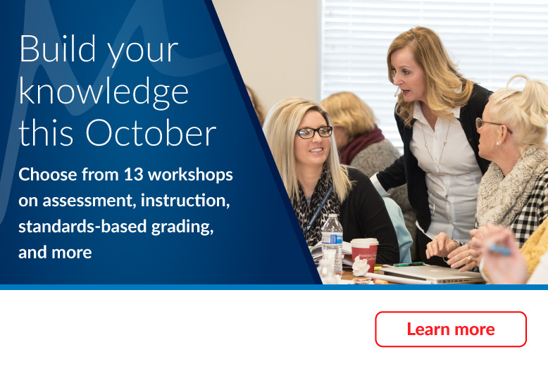 Build your knowledge this October with Marzano workshops