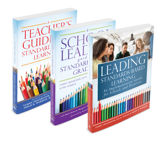 Group of three books of Standards-Based Learning