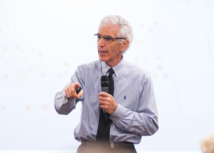 Robert Marzano giving a keynote