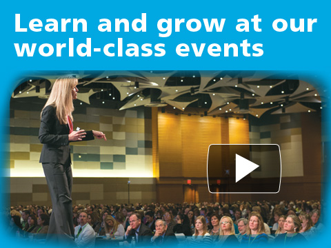 Learn and grow at our world-class events